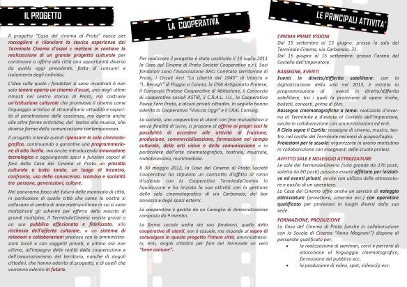 La Casa del Cinema di Prato si presenta...